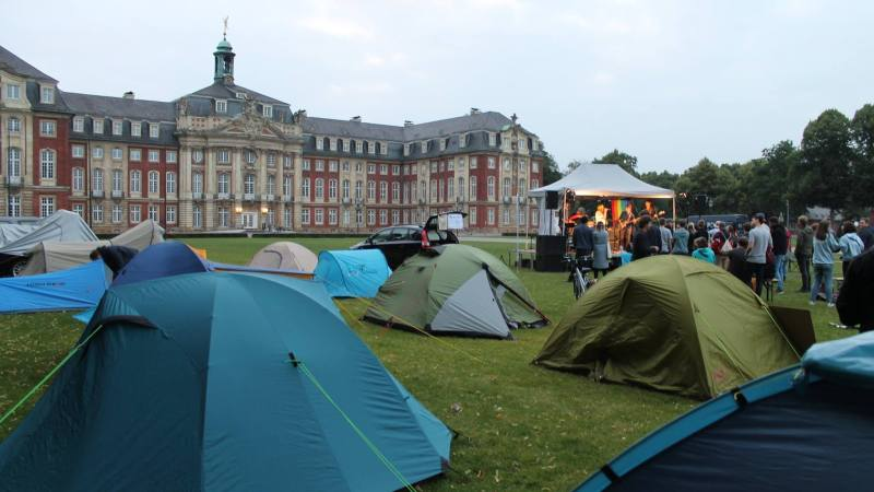 Protestcamp am Schlossplatz 2018